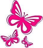 Adesivi in vinile a forma di farfalla, per auto, finestre, furgoni, colore: Rosa