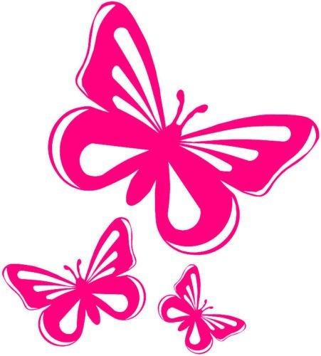 Pegatinas mariposa rosa de vinilo para coche, ventana, furgoneta