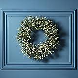 Weihnachts Türkranz Mistelzweige und weiße Beeren Durchmesser 50cm Lights4fun