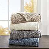 JLA Home Woolrich Burlington Luxury Berber Blanket Grey 108 * 90 King Size Premium Soft Cozy Soft Berber for Bed, Coach or Sofa