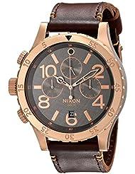 Nixon Herren-Armbanduhr 48-20 Chrono Chronograph Quarz Leder A3632001-00