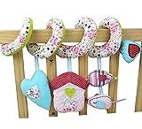 Chinatera Baby Bett Bettchen Hängen Floral bedruckte Baby Plüschtier mit Musik Roller Glocke