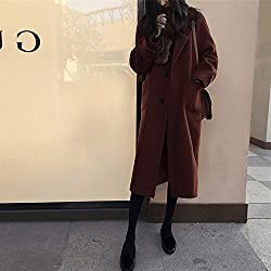 MO Fashion Autumn and Winter Women 'S Jacket Coat Long in the Large Paragraph Loose Loose Woolen Coat from MO
