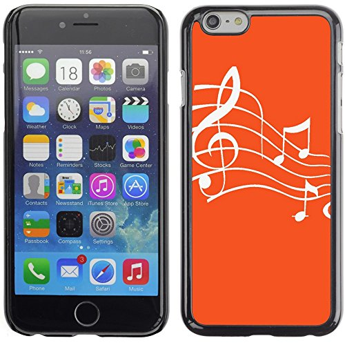 Graphic4You Music Note Pattern Design Hard Case Cover for Apple iPhone 6 Plus (Turquoise) Orange