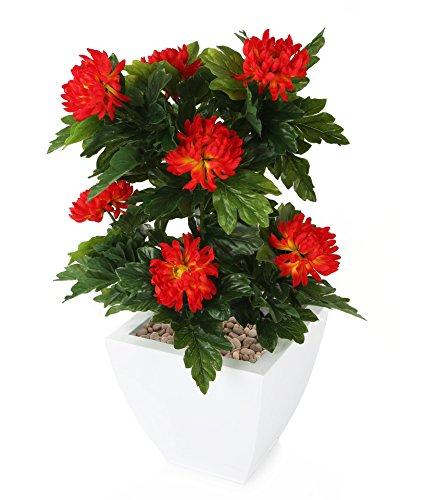 Closer To Nature FT029RB - Chrysanthème artificiel rouge de 66 cm