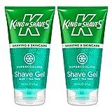 King of Shaves, gel da barba rinfrescante, 150 ml, confezione doppia