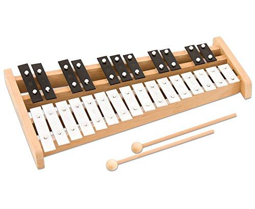 Betzold Musik 4732 - Sopran-Glockenspiel Kinder chromatisch, 27 hochwertige Klangplatten - Stabspiel Instrument Schule