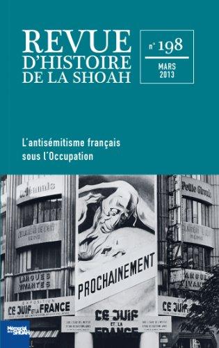 Revue Histoire de la shoah nº198 - L'Antisémitisme français sous l'occupation