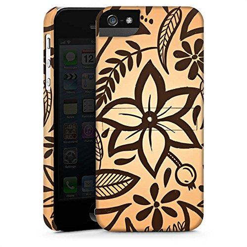 Apple iPhone X Silikon Hülle Case Schutzhülle Retro Blumen Muster Premium Case StandUp