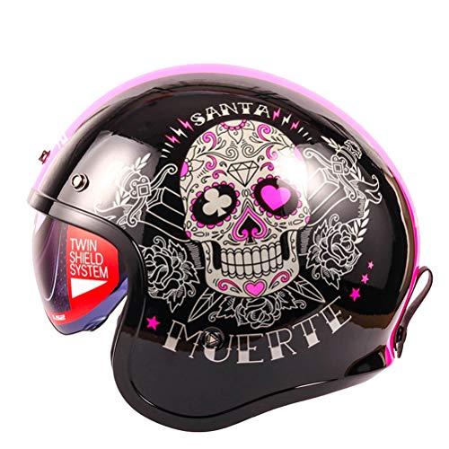 Caschi da moto Jet Retro Open Face Caschi da moto da corsa Cruiser Chopper Cafe Racing antiurto per tutte le stagioni Casco moto Harley