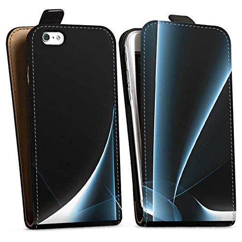 Apple iPhone X Silikon Hülle Case Schutzhülle Rauch Nebel Muster Downflip Tasche schwarz
