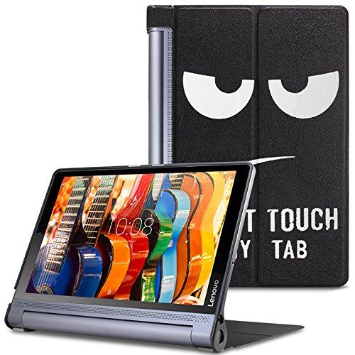 Lenovo Yoga Tab 3 Plus/ Lenovo Yoga Tablet 3 10 Pro Hülle Case, Infiland Ultra Dünn Tri-Fold Muschel PU Leder Ultra Schlank Superleicht Ständer Shell Cover Schutzhülle Etui Tasche für Lenovo Yoga Tab 3 Plus 25,65cm (10,1 Zoll IPS) Convertible Media Tablet/Lenovo YOGA Tablet 3 10 Pro 25,6 cm (10,1 Zoll QHD IPS) Tablet(Große Augen)