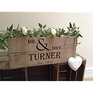 281752817921 Personalised Vintage Style Small Wooden Apple Crate Wedding Crate Wedding Gift