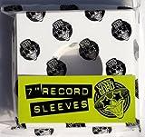 Vinyl Guru Lot de 100 pochettes cartonnées pour disques vinyles 45 tours Blanc 17,8 cm x 17,8 cm