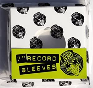 """100 x 7"""" inch Vinyl Record 45RPM Single White Card Sleeves Covers (Straight Cut Top)"""