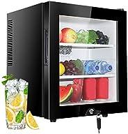 30L Mini Fridges, Table Top Small Refrigerator, Drinks Cooler Freezer, LED Light + Lock & Key, Low Noise,