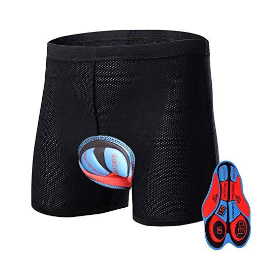 HTTOAR Calzoncillos de Bicicleta Ropa Interior Pantalones Cortos de Ciclismo Deportivo Pantalones Cortos de Bicicleta Acolchados 3D para Hombre Ropa Interior con Antideslizantes (9D, M)