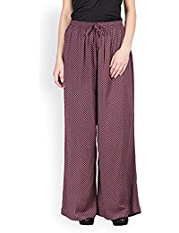 AYAANY Maroon Color Printed Crepe Palazzo for women