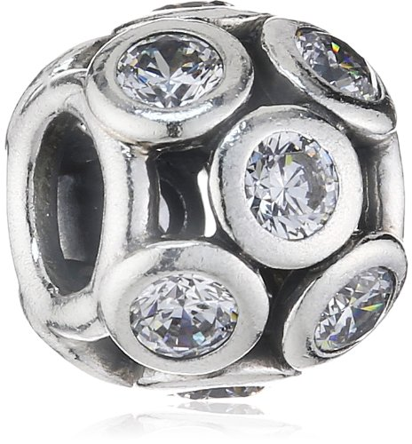 Pandora Damen-Charm 925 Sterling Silber Zirkonia weiß 791153CZ