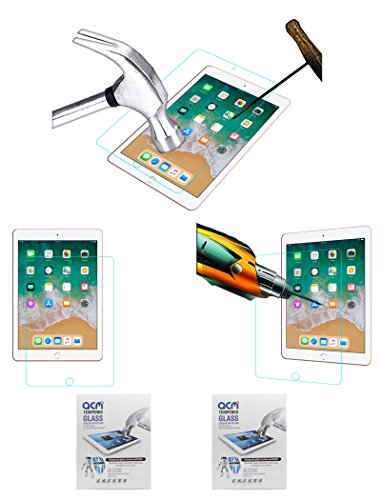 ACM Pack of 2 Tempered Glass Screenguard for Apple Ipad 9.7 6th Generation Tablet Screen Guard