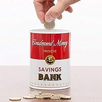 Latte condensato non dovrebbe essere il contenuto di questa scatola divertenti, ma condensato 'denaro'. Il design della salvadanaio in metallo ricorda la famosa zuppa dosi che Andy Warhol ispirato a diverse opere d' arte. Consente loro di dec...