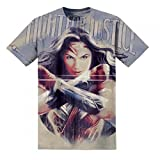 Wonder Woman Camiseta Modelo Fight for Justice Para Hombre (XXL/Blanco)