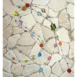 lange Y – Kette – kristall & bunt –