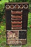 Insektenhotel, XXL, FRONT edel ANTHRAZIT,dunkel,wetterfest IN ANTHRAZITLASUR / ANTHRAZIT,INXXL-VAT-BEL-at002 groß,, wetterfest,Insektenhotel Insektenhaus, Schmetterlingshaus Nistkasten, Insektenhotel,WETTERFEST, Holz futterhaus für Insekten & Vögel,mit Schmetterlingshaus-Station Farbe ANTHRAZIT lasiert,anthrazit / Holz natur,Ausführung Naturholz MIT WETTERSCHUTZ-FRONT für trockenes Futter