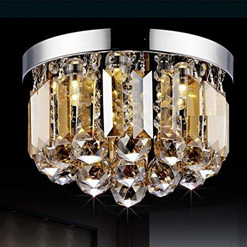 Oudan Modern, einfach K 9 von Crystal Chandeliers, Retro Fashion Lounge Schlafzimmer Deckenleuchte (Farbe: Multicolor 25 * 20 cm). (Farbe : Spherical Cognac Color-25 * 20cm) - Neun Light Cognac