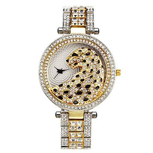 J.Memi'W Strass Uhr Für Dame Iced Out Quarz Armbanduhr Hip Hop Mode Analoge Uhr Armband Jubiläum Weihnachten Geburtstag Geschenk,C