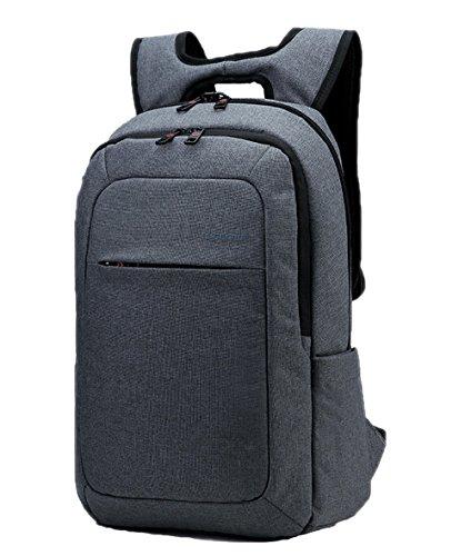 Santimon Herren Mode Laptop Rucksäcke Schlank Anti-Diebstahl Schulter Taschen Für Schule Reise Wandern Grosse Kapazität Tagesrucksack Upgrade-Grau