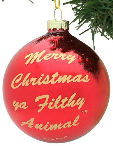 Baum buddees Merry Christmas YA Filthy Animal Glas Weihnachten Ornament