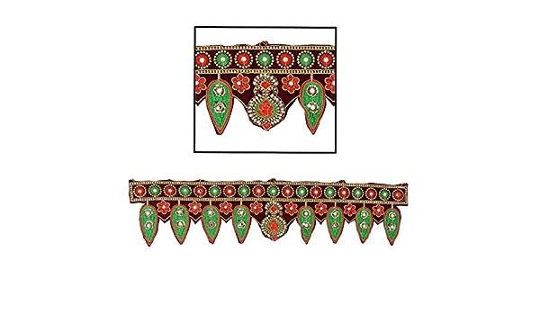 Amba Handicraft Door Hanging Toran Window Valance Dream Catcher Home D/écor Interior Pooja bandanwaar Diwali Gift Festival Colorful Indian Handicraft Love.TORAN73