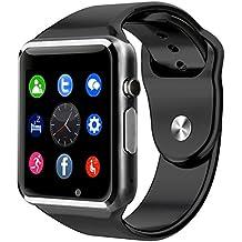 BraceTek - Reloj Inteligente Smartwatch Bluetooth 4.0 con Camara y Capacidad de batería 380mAH, Podómetro, Fitness tracker, Instrucciones en Español