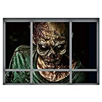 Ruiting Halloween Wall Stickers Scary Ghost Zombie Blood Palm Cemetery Series Stickers(1038)