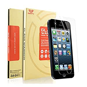 SAVFY iPhone 5 / SE / 5S / 5C Verre Trempé Film Protection écran 0.3mm Glass Screen Protector