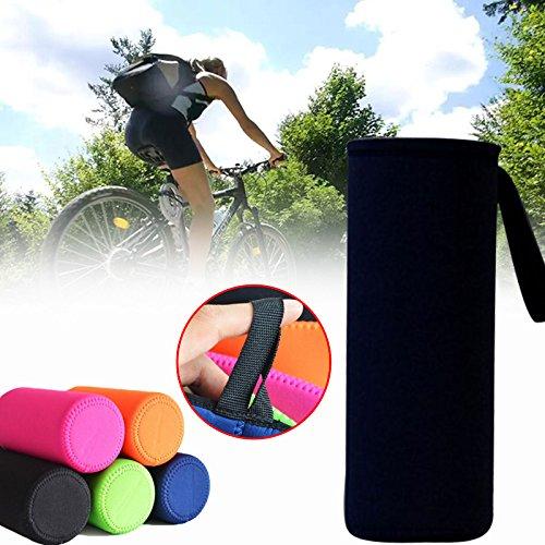 Forfar 1 Stück 1000ml Sportreisen Wasser-Neopren-Flasche Abdeckung Isolierte Hülse Tasche Cup Protector Pouch Halter -