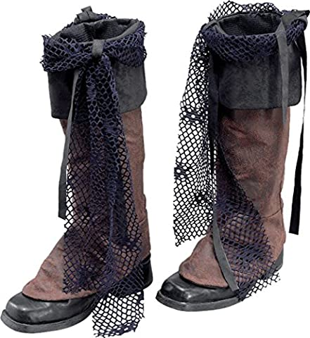 Fancy Party Dress Distressed Look Jack Sparrow Pirate Boot Tops Only Uk