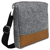 ALELA Futterbeutel für Hunde - Futtertasche für Hundetraining - Leckerlitasche aus Filz - Snack Bag Bauchtasche - Abwaschbar - 22x20x4 cm (Grau)