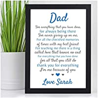 PERSONALISED Dad, Daddy, Grandad POEM Gifts for Birthday, Fathers Day, Christmas Gifts - Custom DAD, DADDY, GRANDAD Keepsake Print Gifts for Him