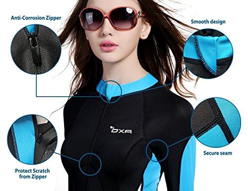 OXA Damen Vollkörper Tauchanzug aus Lycra zum Schnorcheln und Tauchen Lady (SCHWARZ, S) - 2