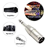 VCE 2-PACK XLR 3 Pin Male to 6.35mm Stereo Jack Plug Audio Adapter