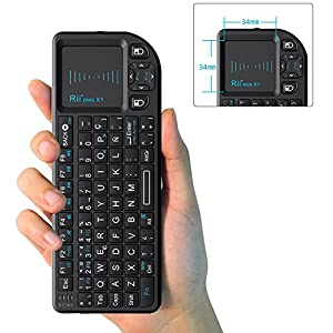 51X0oOprHBL. SS300  - Rii Mini X1 teclado inalámbrico con ratón táctil - compatible con Smart TV, Mini PC Android, PlayStation, Xbox, HTPC, PC, Raspberry Pi