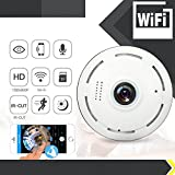 Ocamo Mini 360 Degree Fisheye Panorama Camera Night Vision Wireless Home Security Surveillance Camera