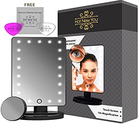 Make Up Mirror with Lights and Magnifier 10x (removable) Touch