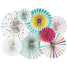 Monkey Home - Una variedad de abanicos plegables de papel - Abanicos para fiestas de cumpleaños