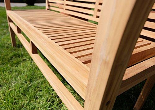 Edle TEAK XXL Gartengarnitur Gartenset Sitzgruppe Gartenmöbel Ausziehtisch 150-200cm + 4 Sessel + Gartenbank 'ALPEN' Holz geölt von AS-S - 5