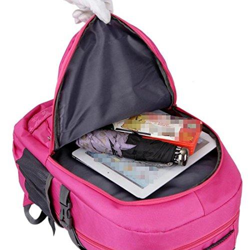Z&N Capacità 25-30L Nylon Impermeabile Zaino Da Viaggio Leggero Esterno Borsa Multifunzionale Unisex Borsa A Tracolla Borsa Universitaria Borse Da Viaggio Borse Da Viaggio Di Adolescenti A 25-30L A