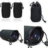 Generic Medium Black DSLR camera Drawstring Soft Neoprene Lens Pouch Bag Cover