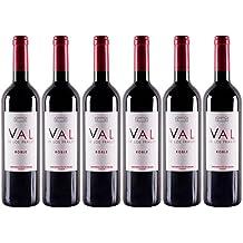 Cigales Valdelosfrailes Roble Vino Tinto - 6 Recipientes de 750 ml - Total: 4500 ml